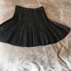 BCBG soft leather skirt
